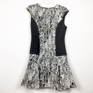 Ted Baker Fit and Flare Knit Flounce Dress